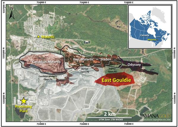 Yamana Gold Provides an Update on Exploration Activities at Canadian Malartic; Announces Positive Drill Results From East Gouldie