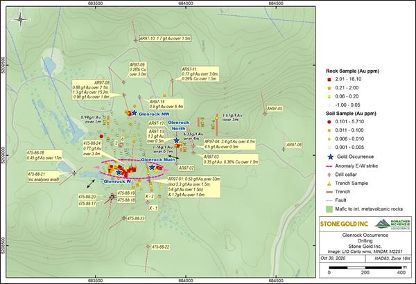 Stone Gold Inc. Announces Fall Glenrock Property Exploration Results