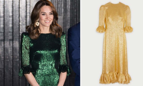 Remember Kate Middleton's gorgeous The Vampire's Wife dress? It's now available in gold