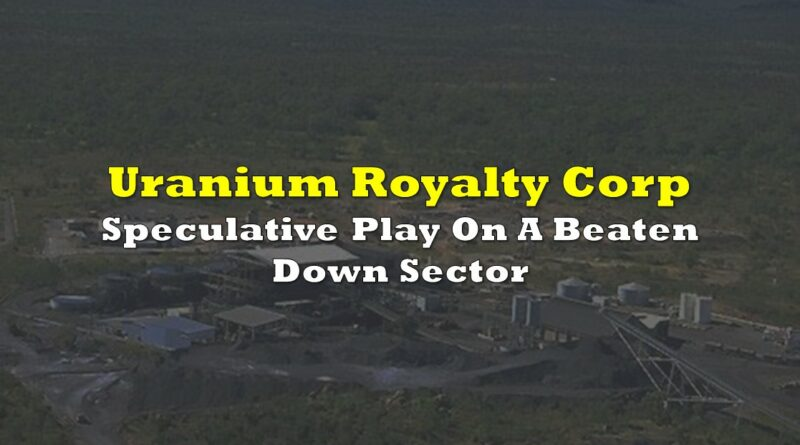 Uranium Royalty Corp: Speculative Play On A Beaten Down Sector
