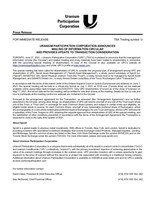 Uranium Participation Corporation Announces Mailing of Information Circular and Provides Update to Transaction Consideration