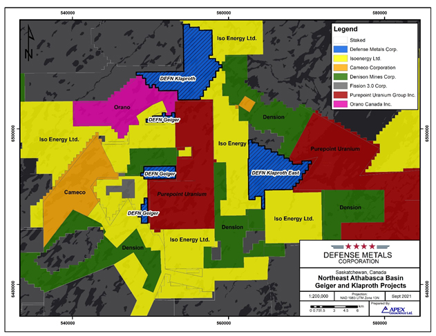 Uranium Stocks in the News: Defense Metals (TSX-V: $DEFN.V) (OTCQB: $DFMTF) Revaluates Its Athabasca Basin Uranium Projects