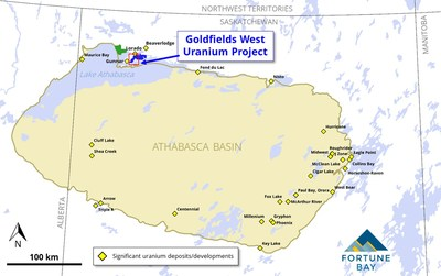 Fortune Bay Announces Goldfields West Uranium Project, Northern Saskatchewan